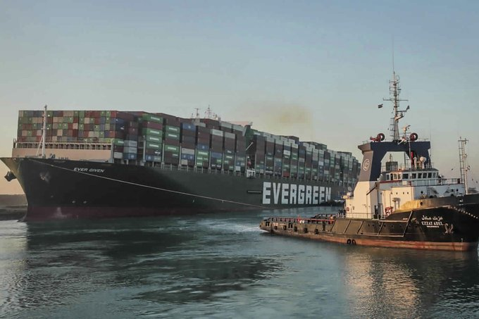 Egypt demands huge fee from Ever Given owners after ship blocked Suez Canal Photo