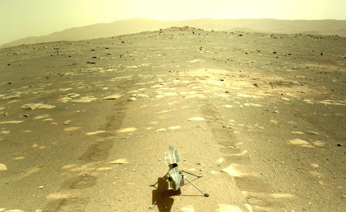 NASA's Mars copter survives brisk night alone in key pre-flight test