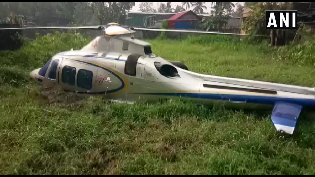 "test Twitter Media - Kerala: A helicopter carrying Indian Lulu Group head MA Yusuff Ali and his wife crash-landed near Kerala University of Fisheries and Ocean Studies (KUFOS) campus in Panangad.   ""All are safe,"" say hospital authorities. https://t.co/pVC12USjXv"