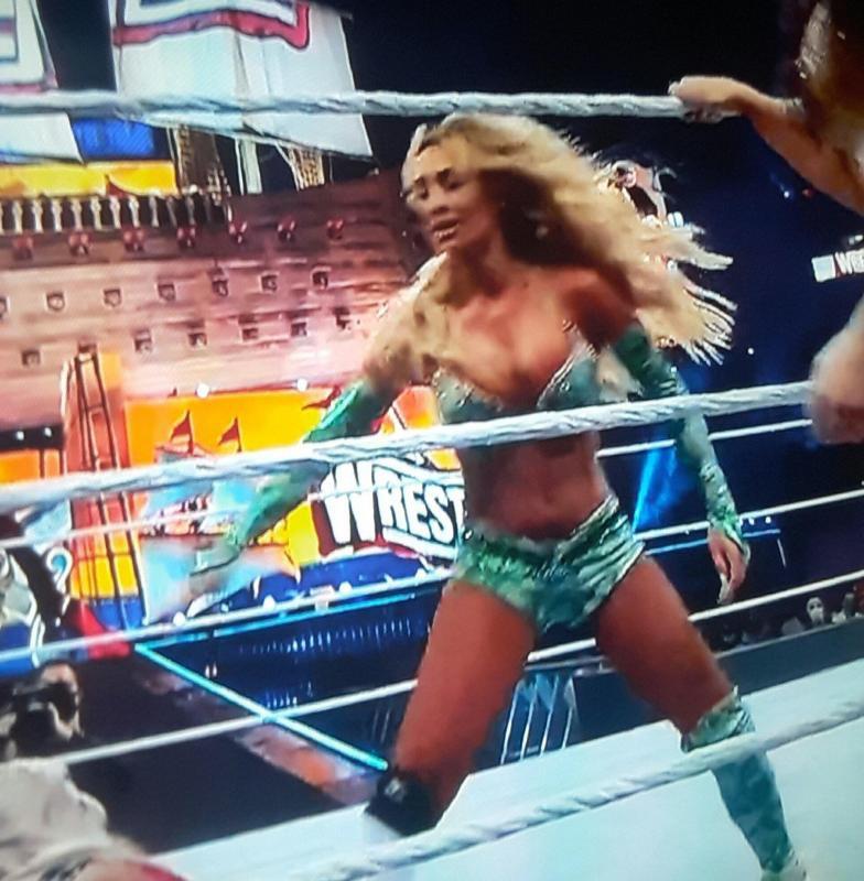 Wrestlemania 37: Carmella, Dana Brooke Suffer Nip Slips; Mandy Rose Fell On Ramp 2