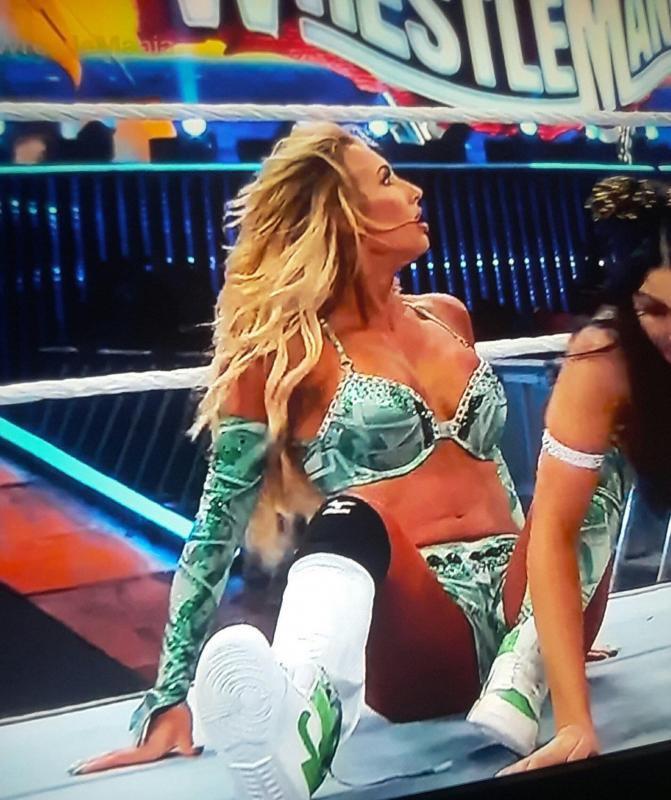 Wrestlemania 37: Carmella, Dana Brooke Suffer Nip Slips; Mandy Rose Fell On Ramp 4