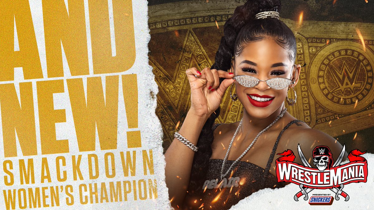 Bianca Belair Wins SmackDown Womens Title at WrestleMania 37