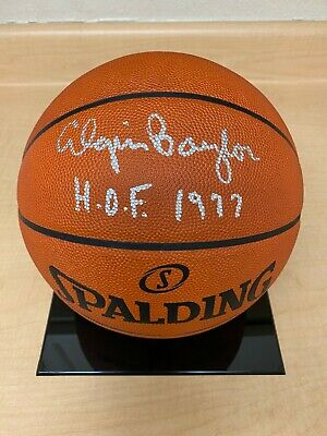 ELGIN BAYLOR Signed Spalding OFFICIAL GAME BALL Basketball w/