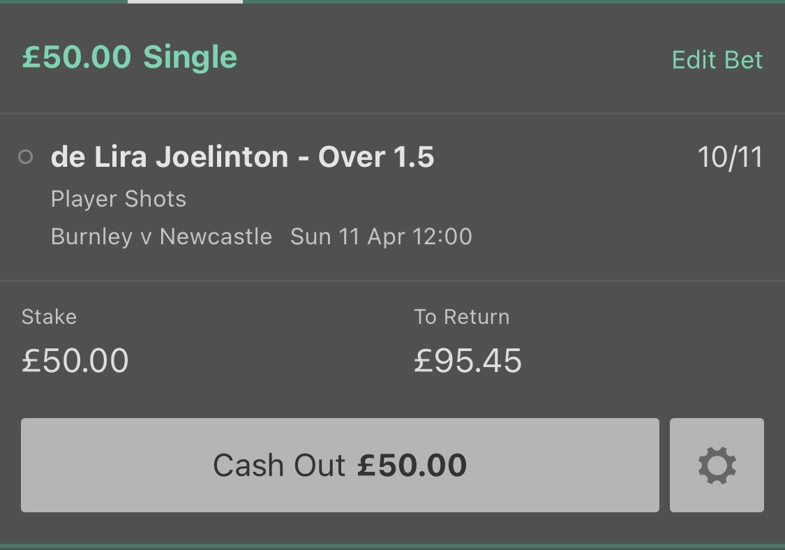 🏴󠁧󠁢󠁥󠁮󠁧󠁿 Burnley v Newcastle 🏴󠁧󠁢󠁥󠁮󠁧󠁿  ⏰ 12:00  Joelinton at 10/11 for over 1.5 shots with Bet365 looks incredible value. Would have priced this around the 2/5 mark even with the chance of being subbed.  #BURNEW #PremierLeague https://t.co/lKHOJ9jmBD