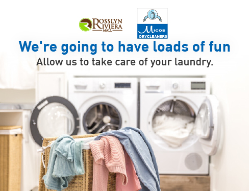 Let's get ready to tumble! Come to @Micosdrycleane1 for all your laundry needs from 8 am to 6 pm. Parking is free all day, every day!  Rosslyn Riviera Mall follows all COVID-19 prevention protocols.   #RosslynRivieraMall #ExperienceTheDifference #freeparking #laundry #laundryday https://t.co/H0a1WnuSFy