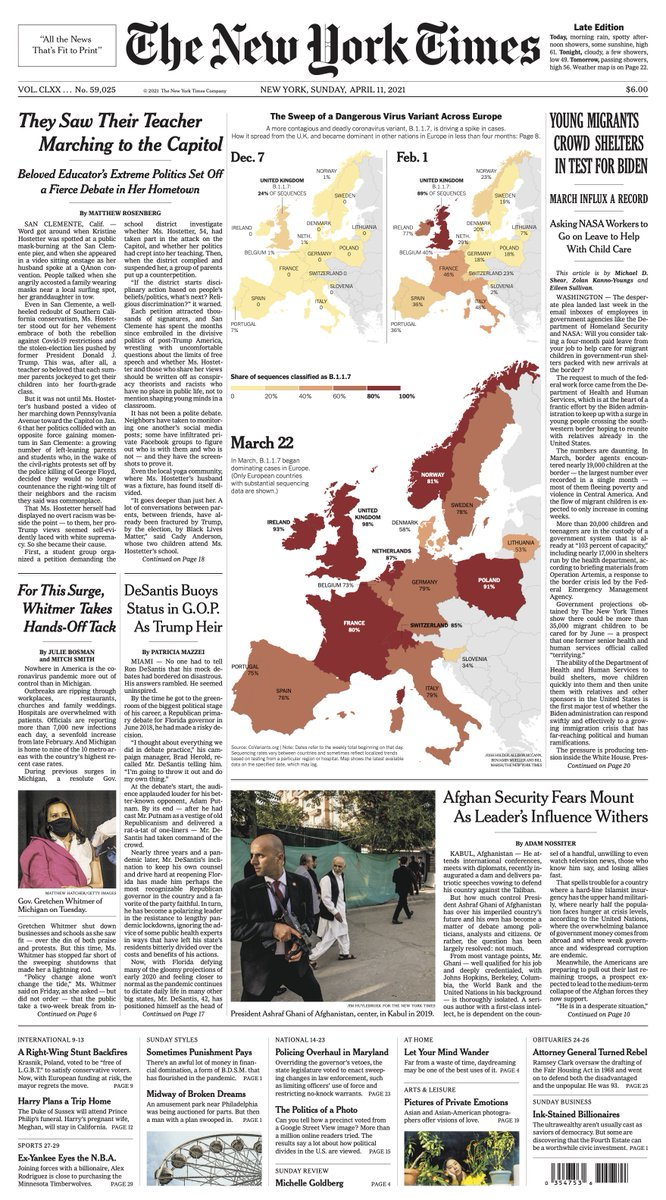 Our story on the rise of B.1.1.7 in Europe is on the front page of today's print @nytimes https://t.co/pDAVP0s6ML https://t.co/SeXw1gvaHw