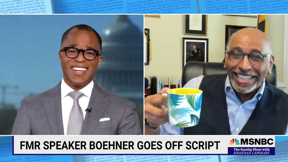 """.@MichaelSteele reacts to Former House Speaker Boehner telling off Ted Cruz with some choice words in his new book saying, """"That's my boy!"""" Steele adds, """"He saw what was happening to the party and could not stop it."""" #SundayShow https://t.co/rkFKd4Aohr"""