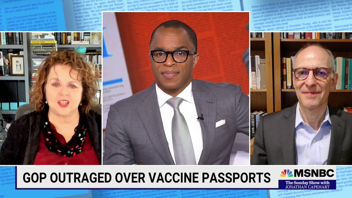 """Dr. @ZekeEmanuel decries the GOP griping about """"vaccine passports"""" saying, """"You don't have freedom to be infectious and spread it around society and endanger my life. That is false freedom."""" #SundayShow https://t.co/BLUuTo6hNO"""