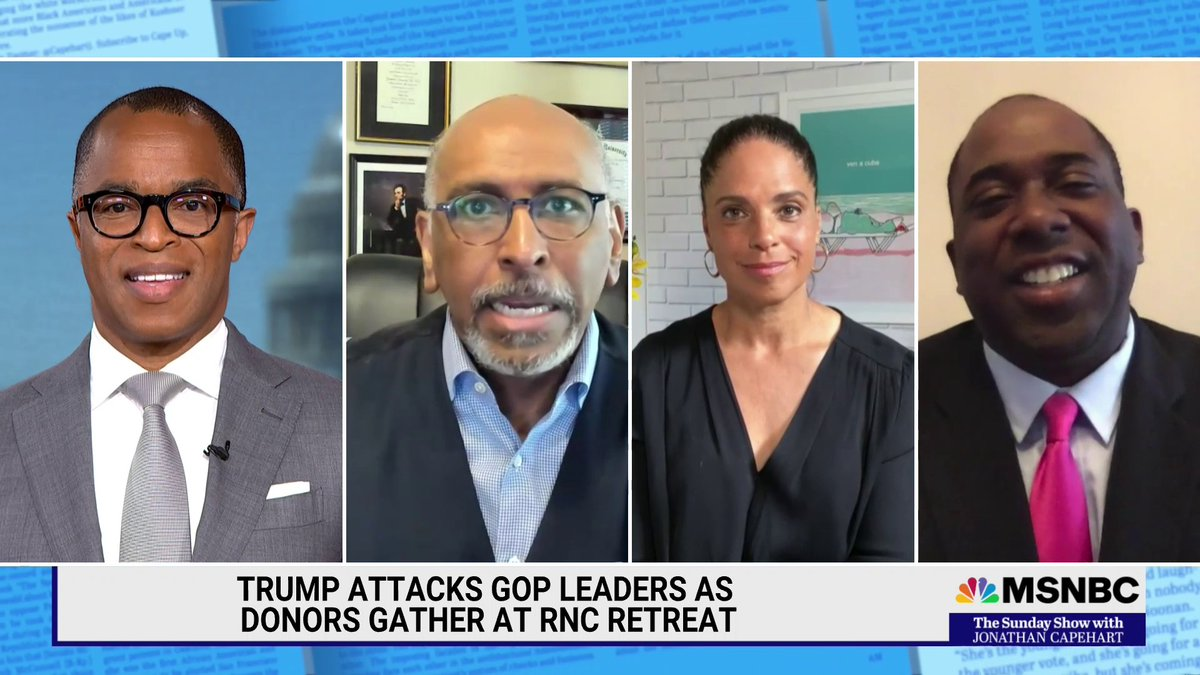 """.@soledadobrien, @perrybaconjr & @MichaelSteele slam the GOP for engaging in culture wars at the expense of governing, with Steele saying of the GOP, """"at the end of the day they don't give a rat's patooty about these issues."""" #SundayShow https://t.co/v8gQzT5Qxu"""