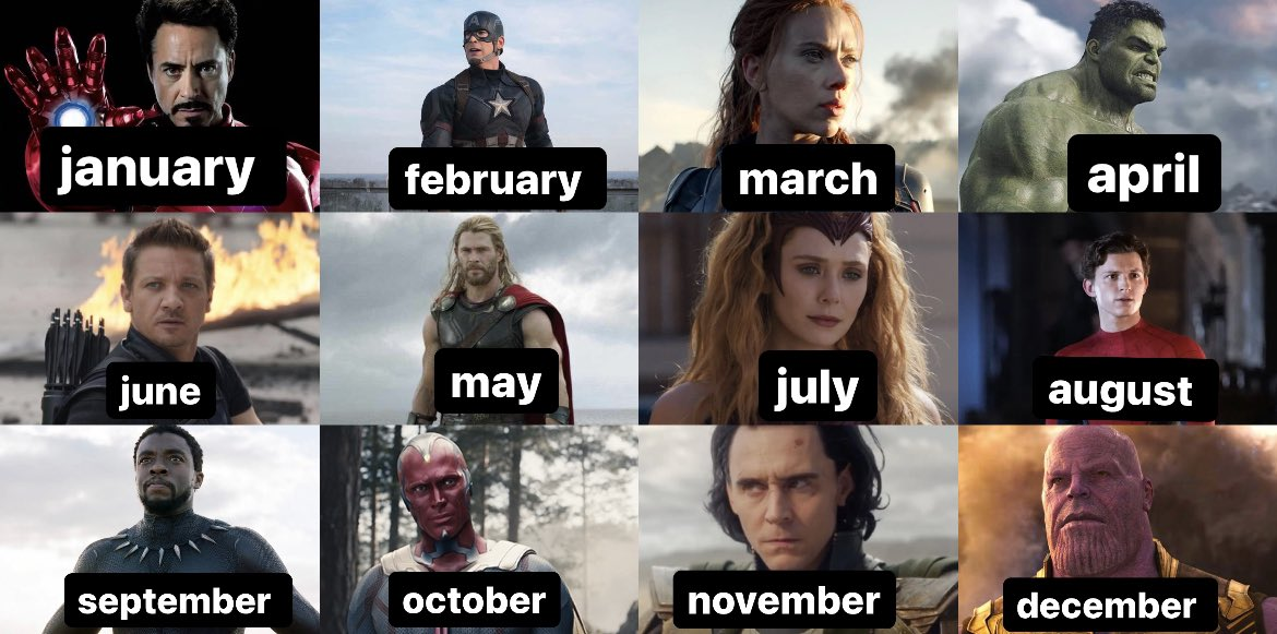 describe the character of your birthday month without saying their name. https://t.co/nOsEQqeh1B