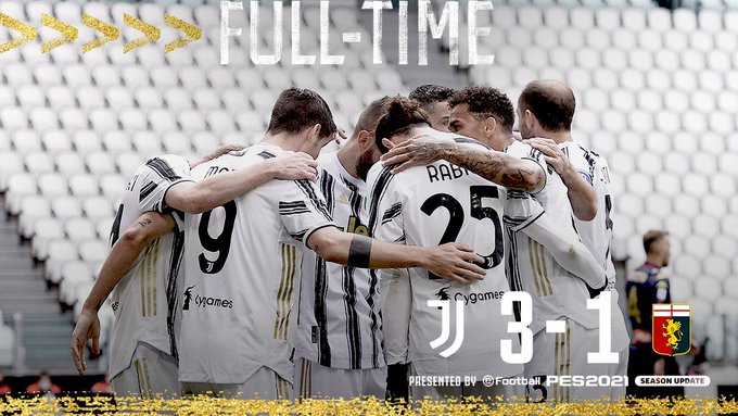 Skor akhir Juventus 3-1 Genoa