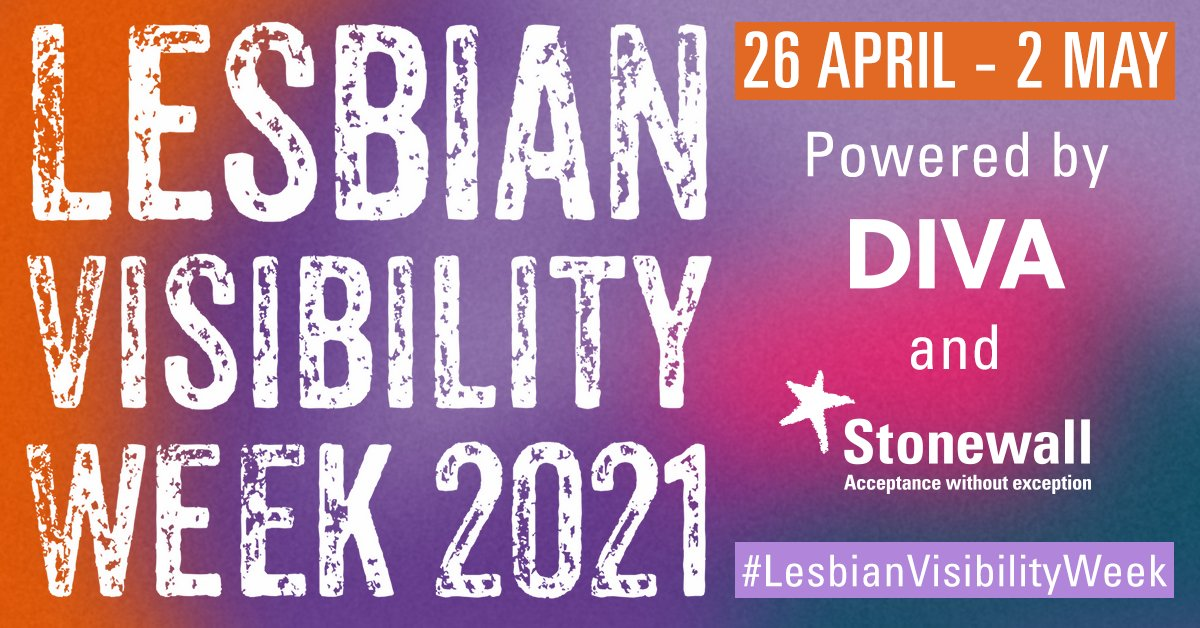 #LesbianVisibilityWeek is approaching! We've partnered with @DIVA to provide a wide range of events to celebrate, uplift and platform lesbians everywhere. Head to our website to register for events and find out more about what's planned for the week https://t.co/GzYP4mB7w9 https://t.co/xqE9X3Xk3K