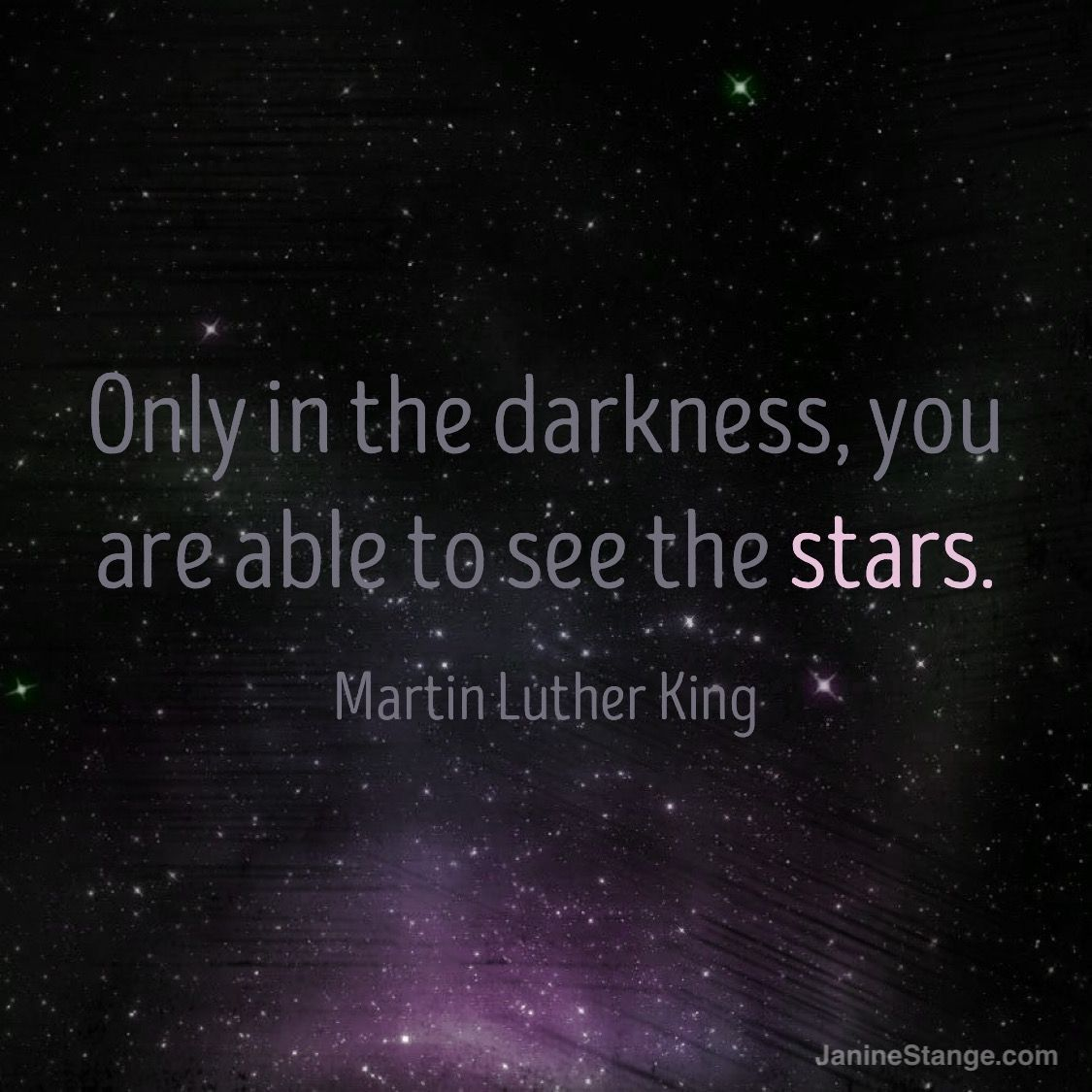 RT @THEANTHEMGIRL: Only in the darkness are you able to see the stars. – Martin Luther King Jr. https://t.co/q9T5AqM1uJ