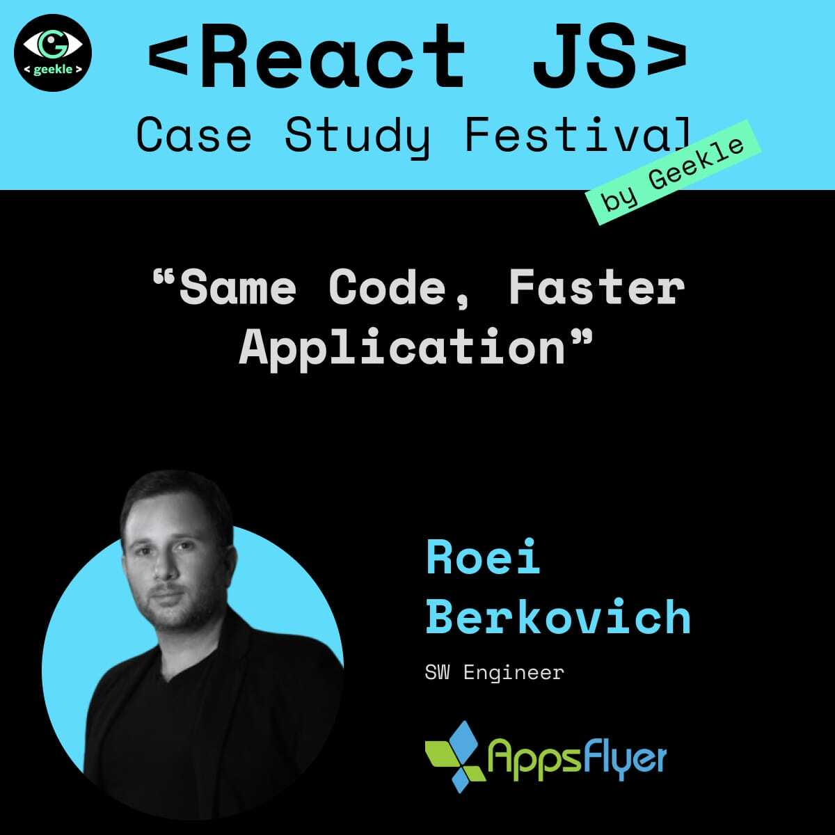 Join our very own @BerkovichRoei at the @GeekleOfficial <React JS> Case Study Festival on April 27th at 2:50pm, where he will explain how to split a bundle into multiple bundles and ship it to the user only when needed! react.geekle.us