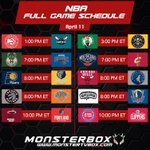 Image for the Tweet beginning: April 11 #NBA Full Game