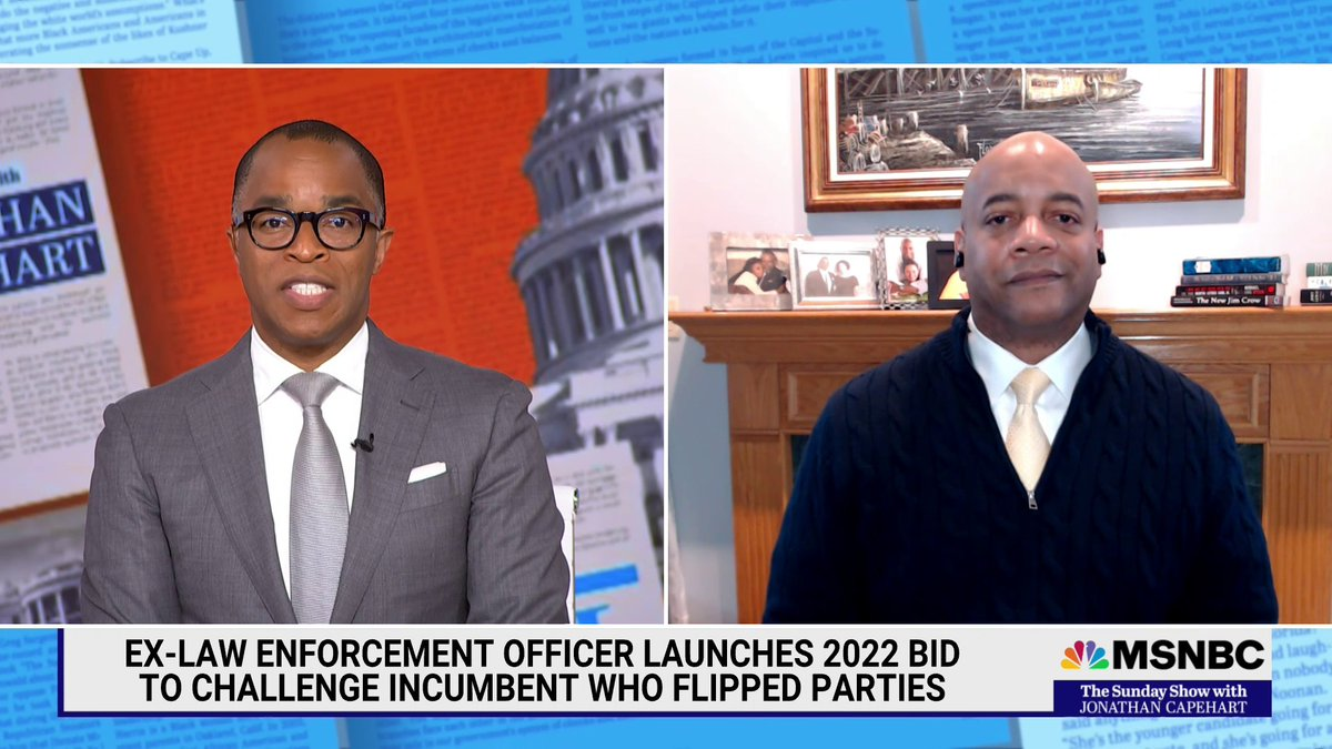 .@talexander_NJ02 (D-NJ), candidate for Congress challenging Rep. Jeff Van Drew (R-NJ), debunks the idea that he favors defunding the police, and addresses the recent incident of a Black Army officer who was held at gunpoint during a traffic stop. #SundayShow https://t.co/FevonkYd9p