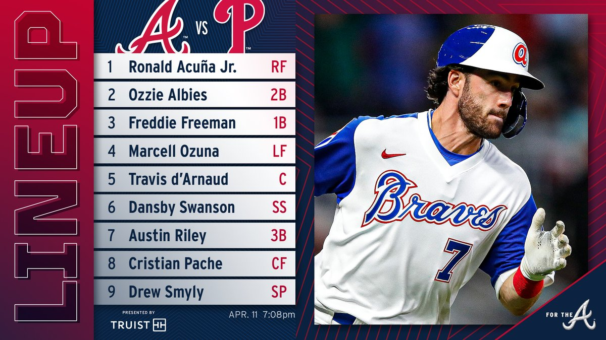 RT @Braves: Let's make it 5 in a row tonight!  Presented by @TruistNews | #ForTheA https://t.co/FnKkTEhslI