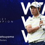 Image for the Tweet beginning: Hideki Matsuyama wins #TheMasters!