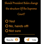 Image for the Tweet beginning: Should President Biden change the