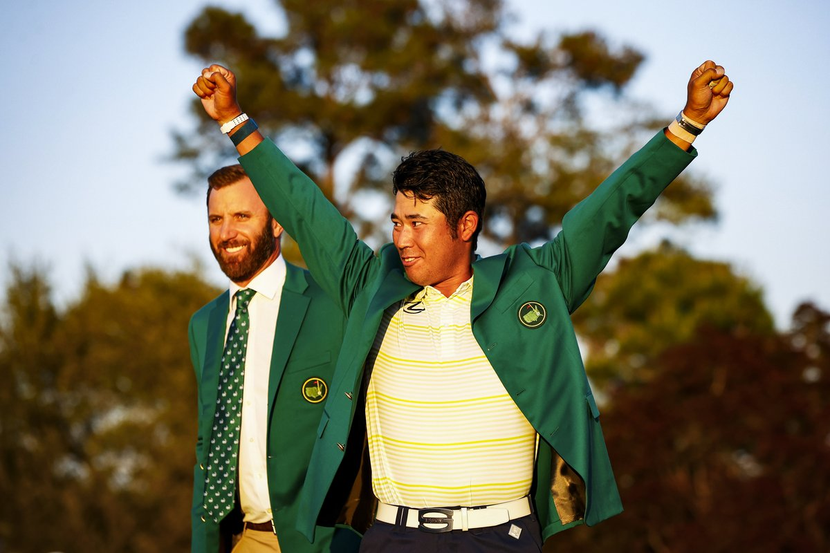 Amazing moment for #Japan and Hideki! The first green jacket to Asia! So happy for Japan, Hideki should light the #OlympicTorchRelay in #Tokyo this summer! What a boost for the city after missing 2020 #Olympics with #Covid so happy! Well deserved 👏
