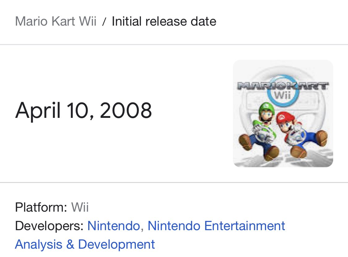 RT @TheSolarPirate: Retweet if you're older than Mario Kart Wii https://t.co/L7EB1LyhX2