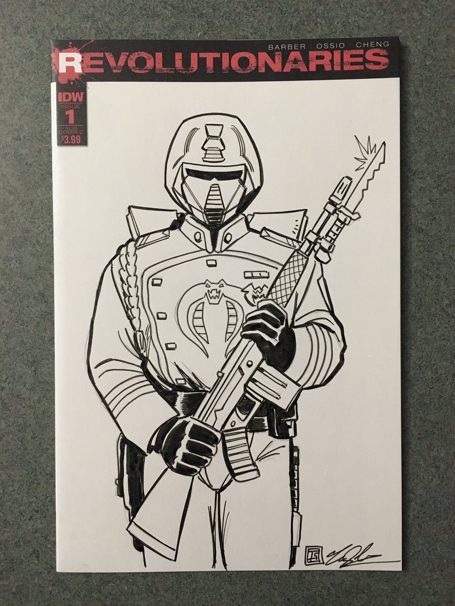 Great Gift Idea! Mars Attacks Issue 1 of 1 Sketch Cover Commission