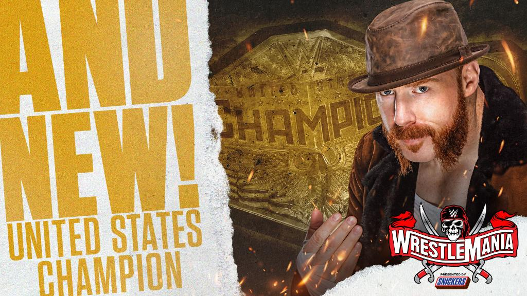 Sheamus Wins United States Title at WrestleMania 37