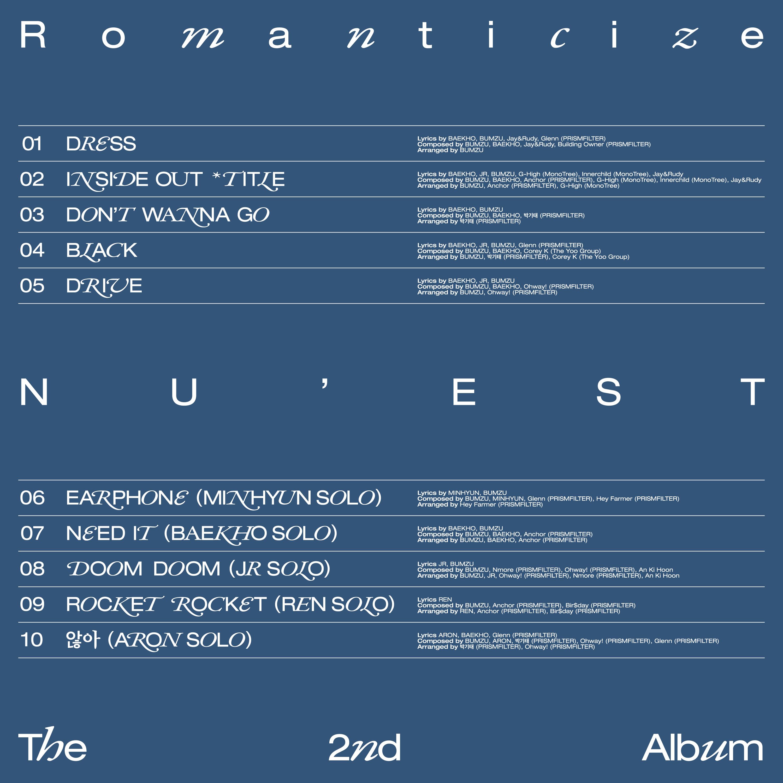 NU'EST Romanticize Tracklist