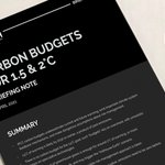 Image for the Tweet beginning: Confused about carbon budgets for