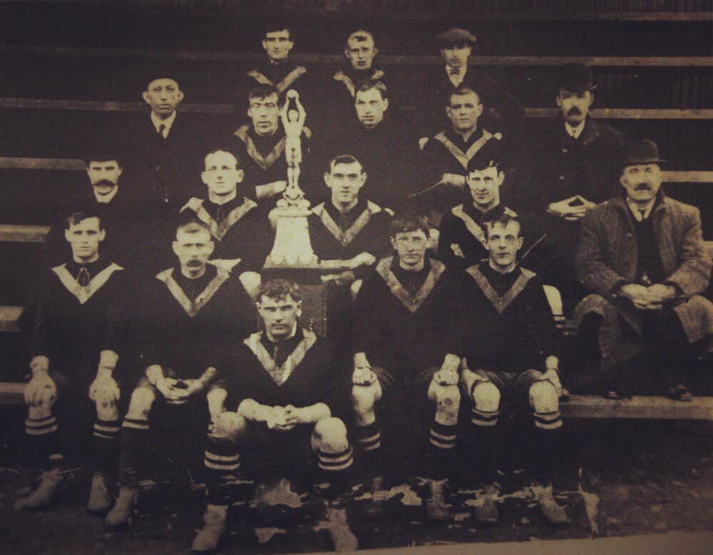 A team of Durham miners won the 'first football world cup' #OnThisDay in 1909.  West Auckland Town beat Swiss side Winterthur in Turin to lift the Sir Thomas Lipton Trophy.   In 1911, the team returned to Turin where they thrashed #Juventus 6-1 & were awarded the trophy outright. https://t.co/F6AMZuZue1