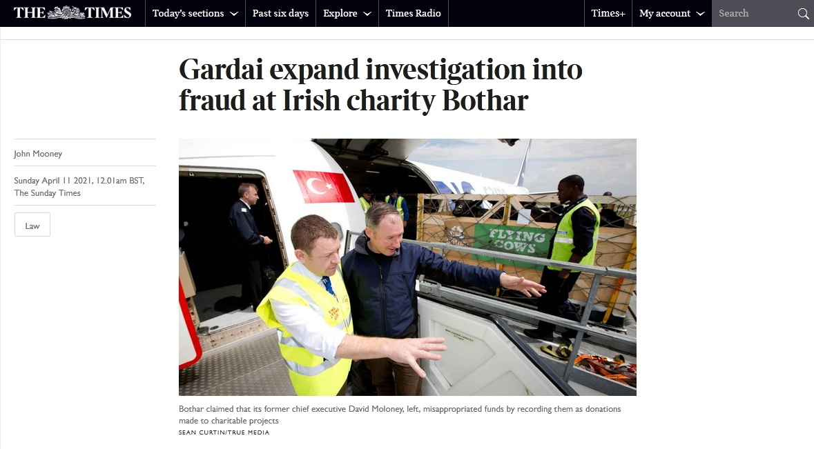 Depressing to see yet another Irish charity scandal, this time David Maloney, the €100,000-a-year CEO of Bothar is accused of misappropriating €460,000+to fund his lifestyle and holidays. Grant Thornton were the auditors... https://t.co/m7kQ0asHR2