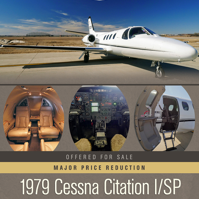 Next to sell - 1979 #Cessna #Citation I/SP at @SOLJETS    GPS500 - TAWS - TCAS - Stormscope Six passenger custom interior More details at: https://t.co/xjIjeAfy2V  #bizjet #bizav #aircraftforsale #privatejet #privateflying #jetforsale #businessaviation