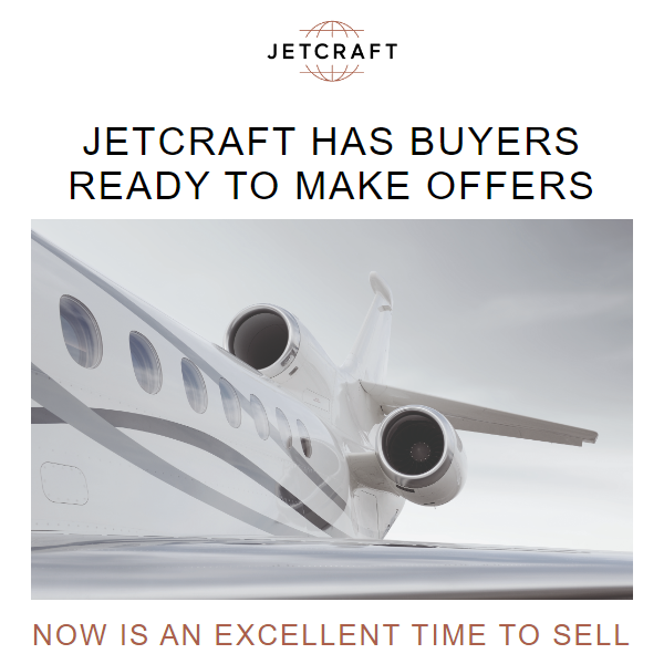 @JetcraftCorp has buyers ready to make offers. List your aircraft with them. More details at: https://t.co/oKDoN9890N  #bizav #aircraftforsale #privatejet #privateflying #jetforsale #businessaviation