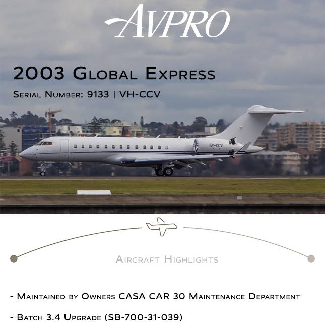 New to market - 2003 #Global #Express at @AvproJets  ADS-B Out APU on Honeywell MSP More details at: https://t.co/AqZpWIuDtH  #bizjet #bizav #aircraftforsale #privatejet #privateflying #jetforsale #businessaviation