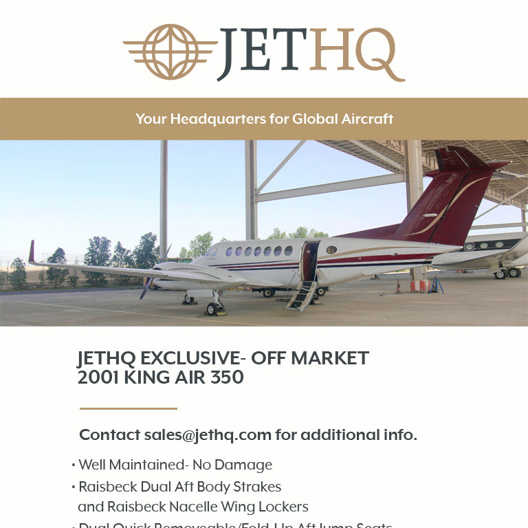 Exclusive- Off Market 2001 #King #Air 350 at @JetHQAv  Well maintained - no damage More details at: https://t.co/w8uEa33fMK  #bizjet #bizav #aircraftforsale #privatejet #privateflying #jetforsale #businessaviation
