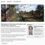 Image for the Tweet beginning: @NSWDPIE_Water webinar to be held