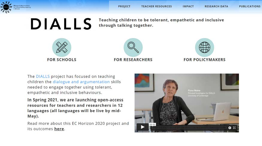 We are excited to launch our new @dialls2020 website which has lots of open access resources for teachers, researchers and policymakers. https://t.co/57chvQyTYA Available in 11 more languages by mid May.  @DiallsLT @diallspt @DIALLS_cy @CamEdFac @REA_research