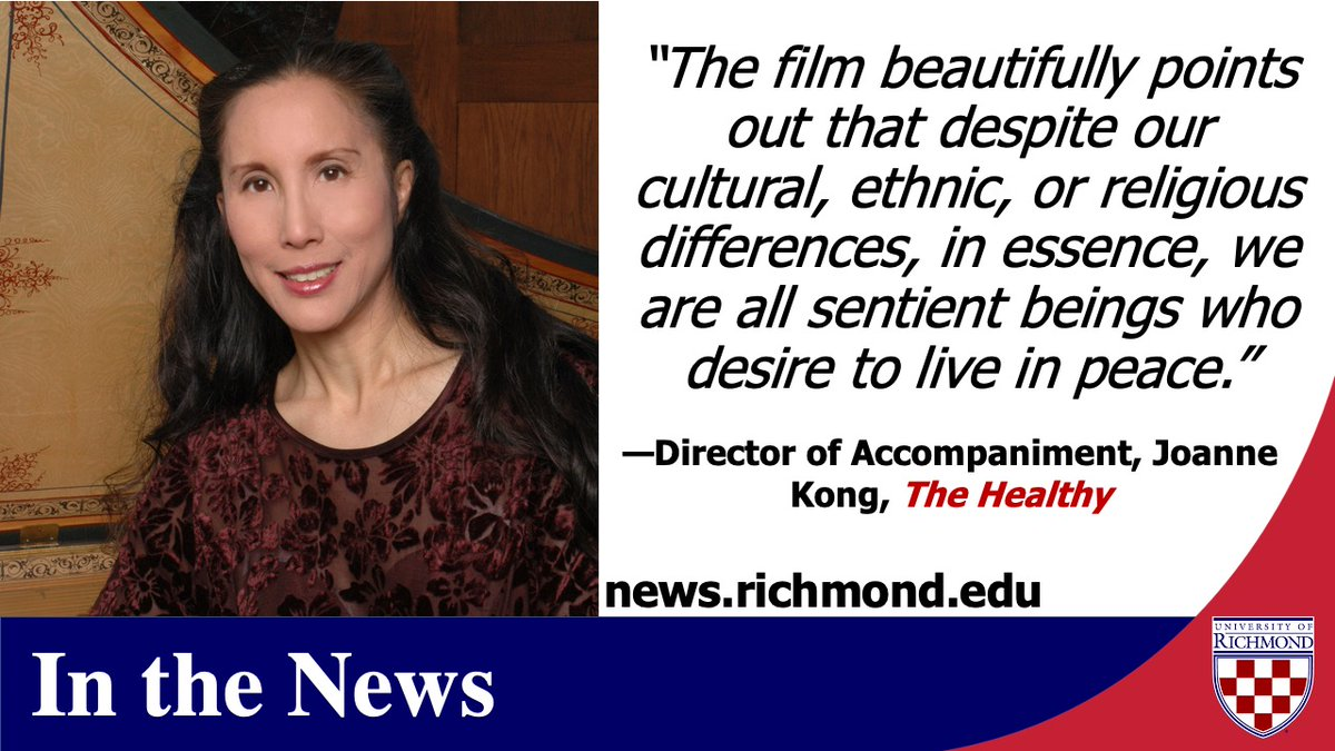 #ICYMI @URichmond director of accompaniment Joanne Kong (@JoanneKong7), a vegan advocate, is quoted about her favorite vegan documentary this @thehealthy article by @AmyGorin. #URExpert. https://t.co/zy398UVl3W https://t.co/c72gSVT5xf