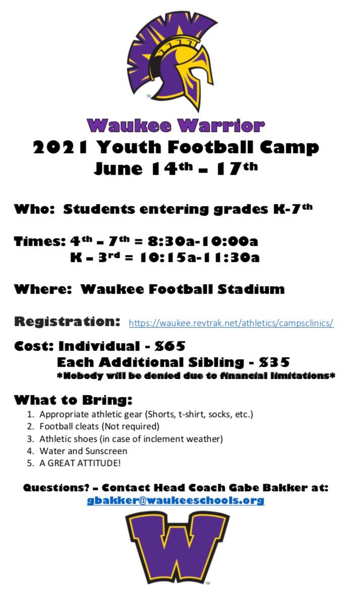 Sign-up today! Camp starts Monday! https://t.co/G7uXRRF168