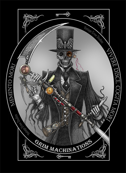 Grim Machinations is a Dark Steampunk theme Tee depicting the Grim Reaper. Available on Amazon for 19.99$. I am pretty proud of how this one turned out.  https://t.co/hatyiStCNC  #teeshirt #tee #goth #gothic #steampunk