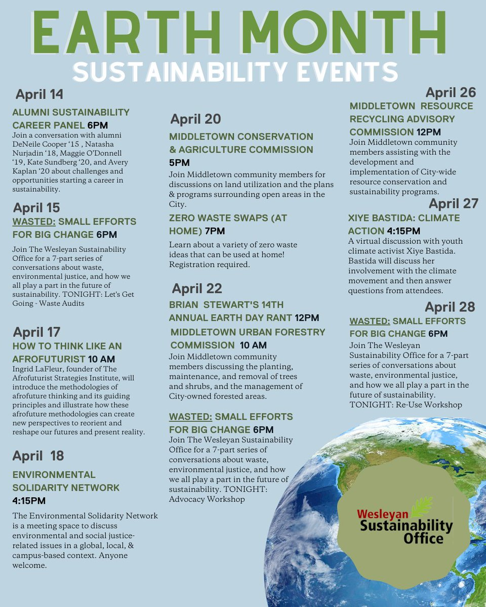 test Twitter Media - Join us in celebrating Earth Month! Check out the official Earth Month calendar to see the amazing events that have been planned throughout the month of April. Find a more details, Zoom links, and registration links here (dates and times subject to change)https://t.co/WePMrz51zV https://t.co/uWe42agR1L