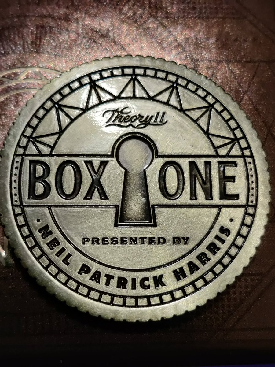 """Not often that you play something that feels like the threshold of a whole new universe of possibilities. @ActuallyNPH and @theory11 's """"Box One"""" is incredible, one of the most unique board games out there."""
