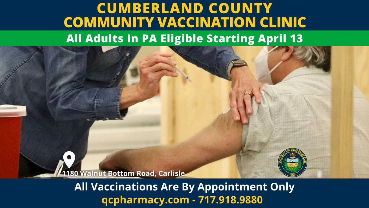 Get signed up!  Let's beat this virus Cumberland County! https://t.co/0BIoKO5mI1