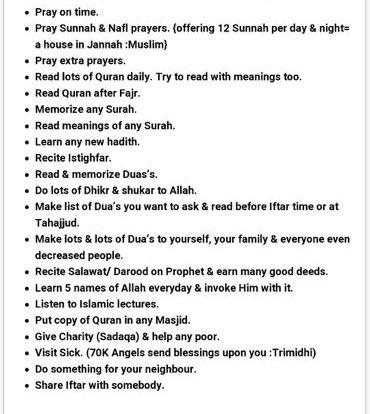 Things to do in Ramadan 💕 https://t.co/q5EOWl6Dq3