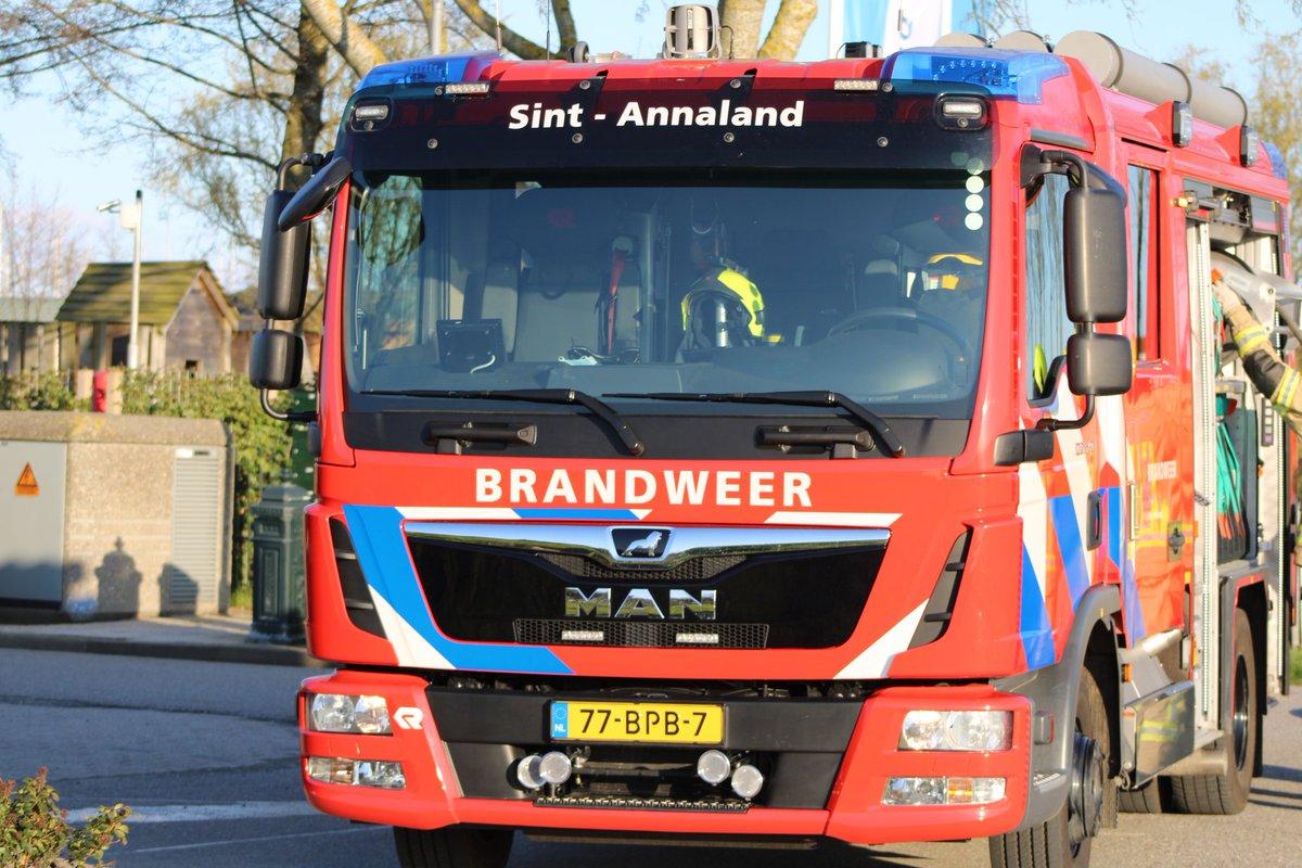 Melding brandweer Sint-Annaland