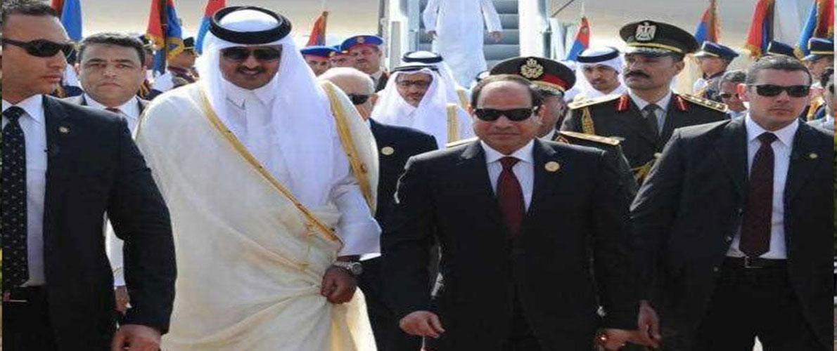 أمير قطر يتصل بالسيسي لأول مرة منذ سنوات ===
