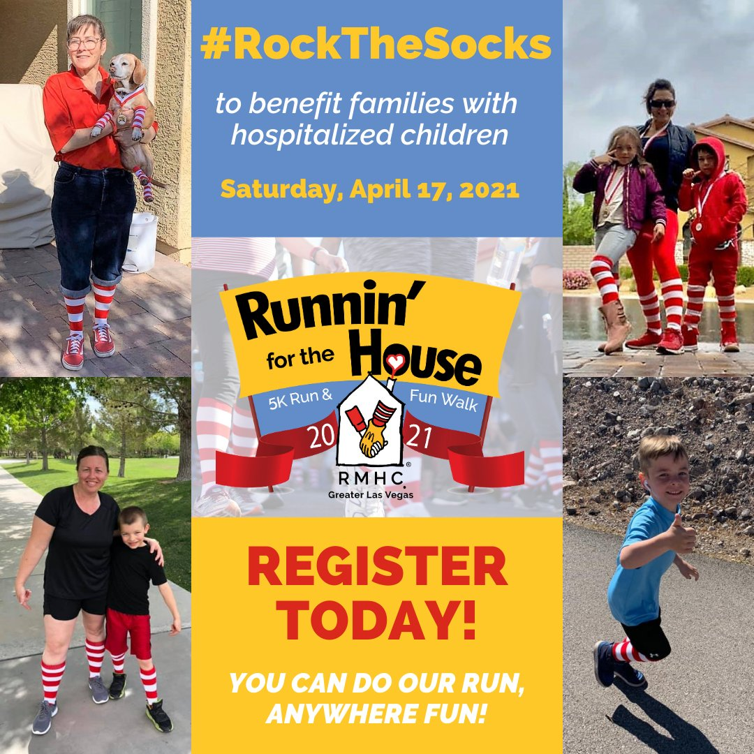 Come #RockTheSocks with us and @931TheMountain this Saturday for the 2021 Runnin' for the House 5K Run & Fun Walk!  We'll be in-person at Floyd Lamb Park, or you can do the event anywhere you want! Register today; https://t.co/29PaRAl8O8