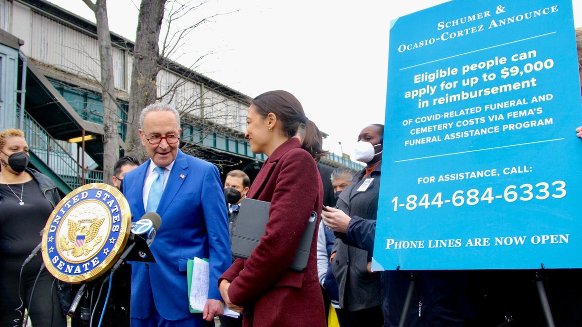 Today, FEMA received over 1 million calls from families who need this relief after @AOC and I announced the hotline.  And the phone lines will be open for months for families to apply.  When you are ready, call 844-684-6333 to apply.