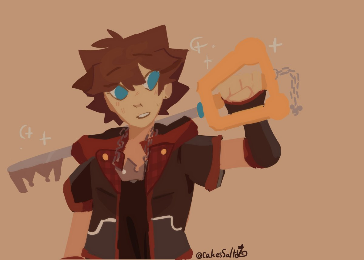 Replying to @CakesSalty: Just a cute Sora!⭐ #kingdomhearts