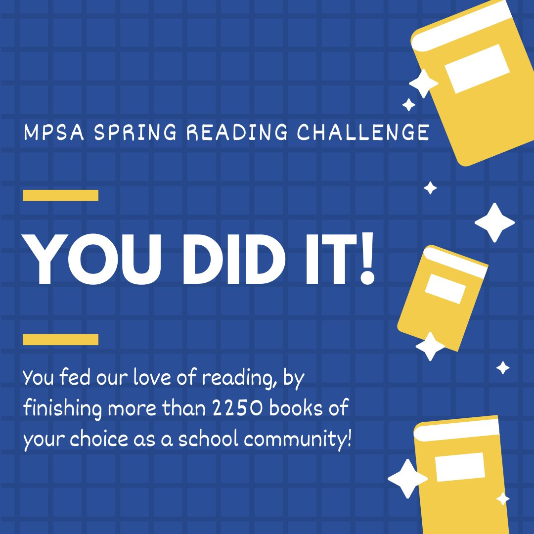 Grateful to our <a target='_blank' href='http://twitter.com/MPSArlington'>@MPSArlington</a> Monarchs for completing the Feed Our Need to Read spring challenge! You exceeded our goal by finishing more than 2000 books between March 26 and April 11. Wow! <a target='_blank' href='http://search.twitter.com/search?q=ReadersAreLeaders'><a target='_blank' href='https://twitter.com/hashtag/ReadersAreLeaders?src=hash'>#ReadersAreLeaders</a></a> <a target='_blank' href='http://twitter.com/ArlCoMontessori'>@ArlCoMontessori</a> <a target='_blank' href='http://twitter.com/APSLibrarians'>@APSLibrarians</a> <a target='_blank' href='http://twitter.com/AFACfeeds'>@AFACfeeds</a> <a target='_blank' href='https://t.co/q2QY3qu0Yh'>https://t.co/q2QY3qu0Yh</a>